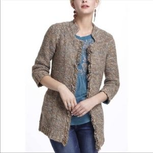 Sparrow Brown Marled Peat Cardigan Sweater